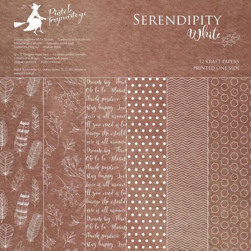 "Paper pad Serendipity White, 12x12"""