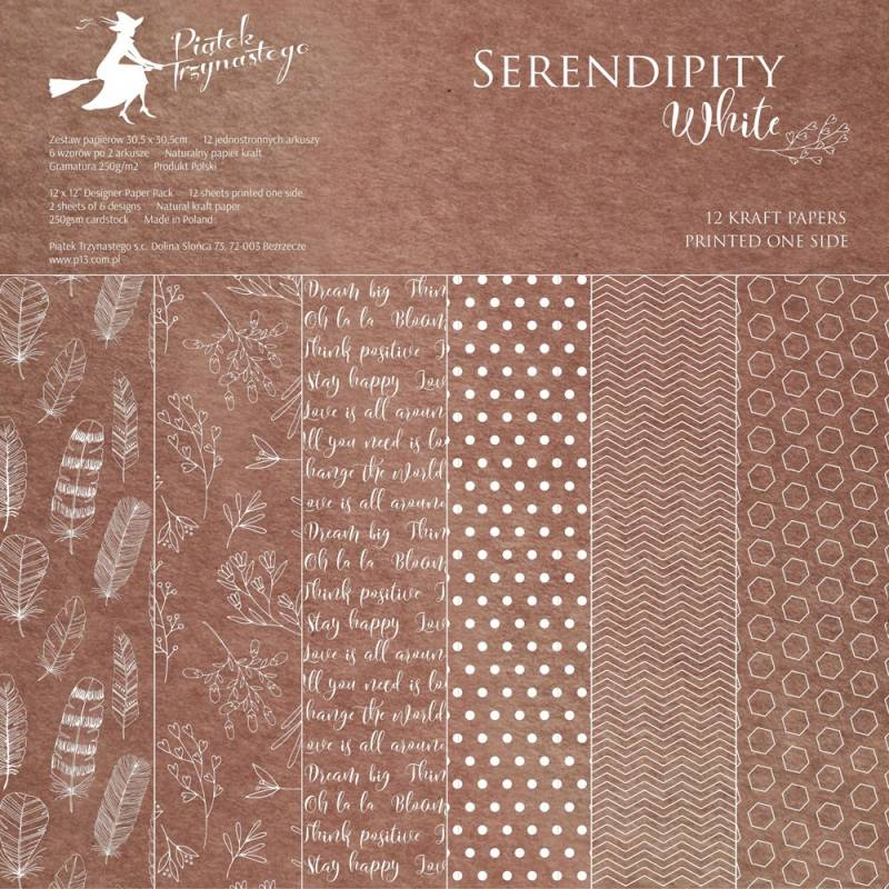 Paper pad Serendipity White, 12x12""