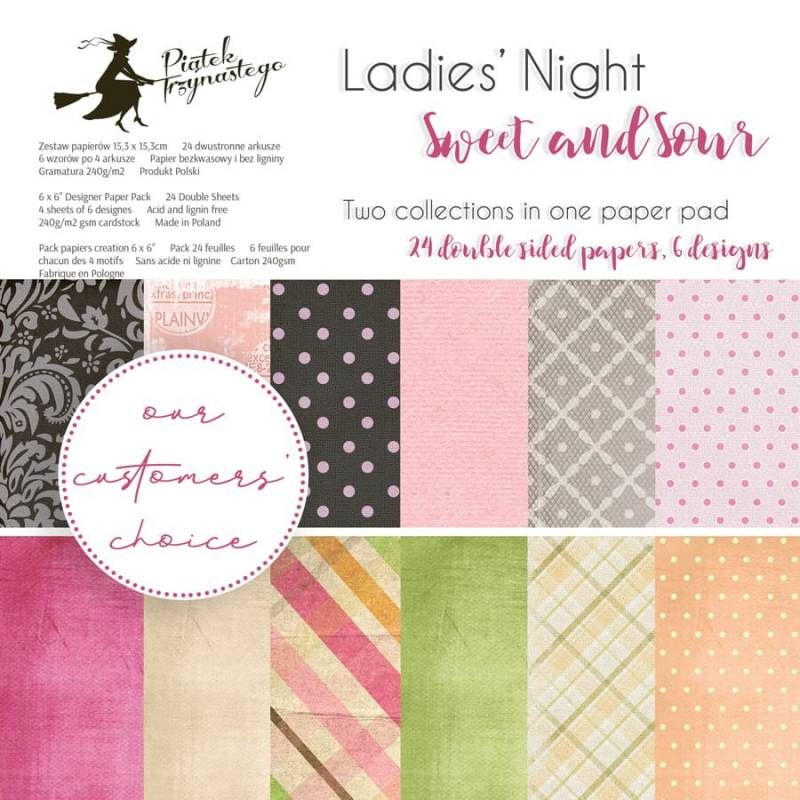 """Paper pad Ladies' Night + Sweet and Sour, 6x6"""""""