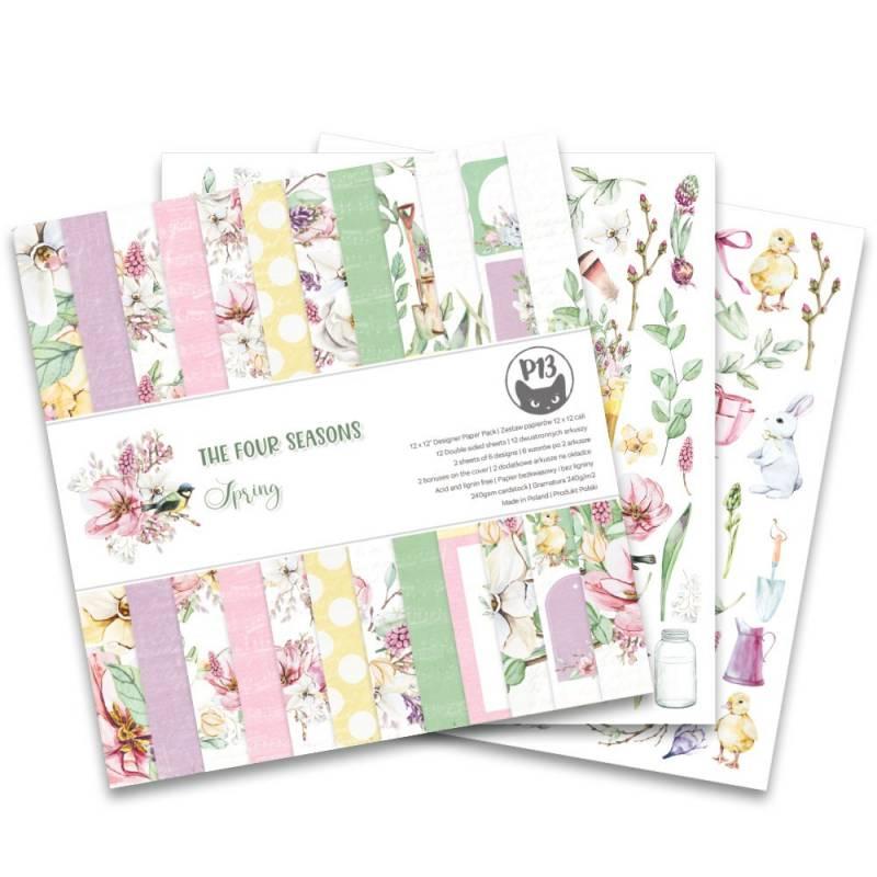 """Bloczek papierów The Fours Seasons - Spring, 12x12"""""""