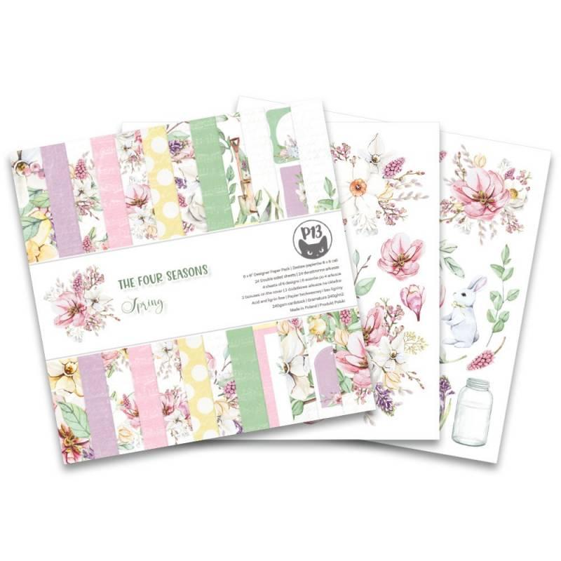 """Bloczek papierów The Four Seasons - Spring, 6x6"""""""