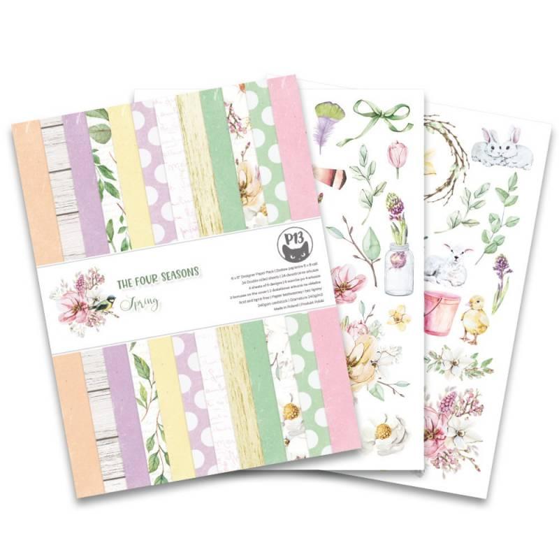 """Bloczek papierów The Fours Seasons - Spring, 6x8"""""""
