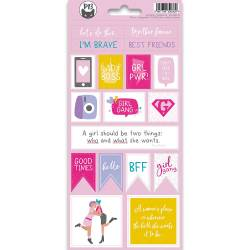 Sticker sheet Girl Gang 02, 10,5 x 23cm