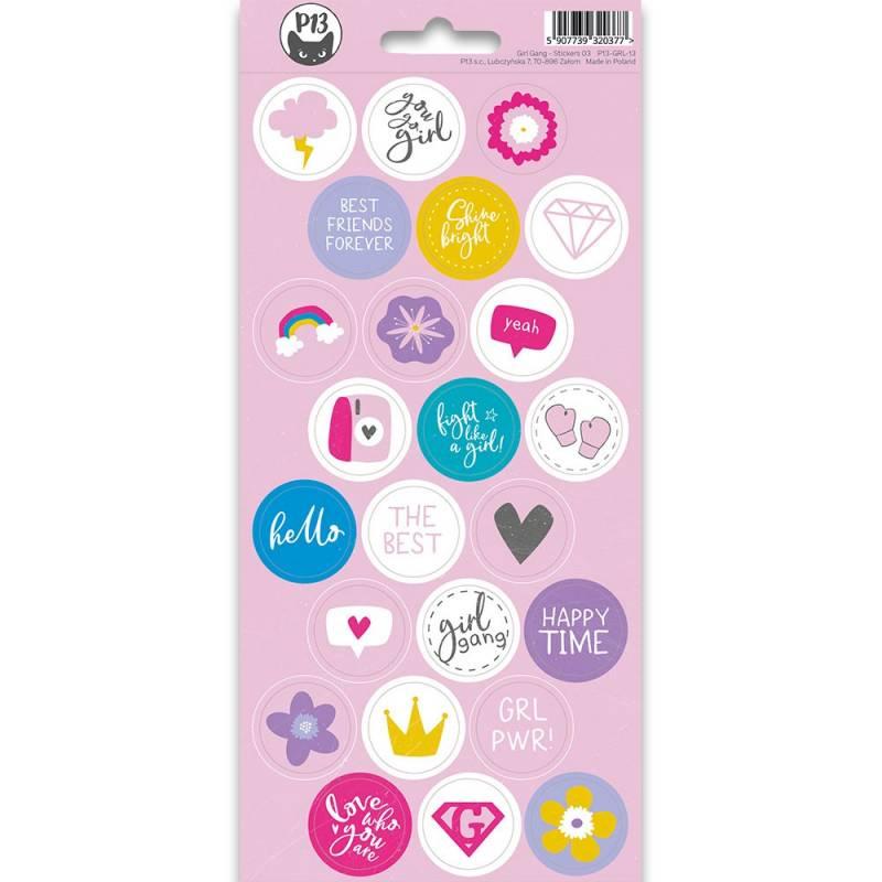 Sticker sheet Girl Gang 03, 10,5 x 23cm