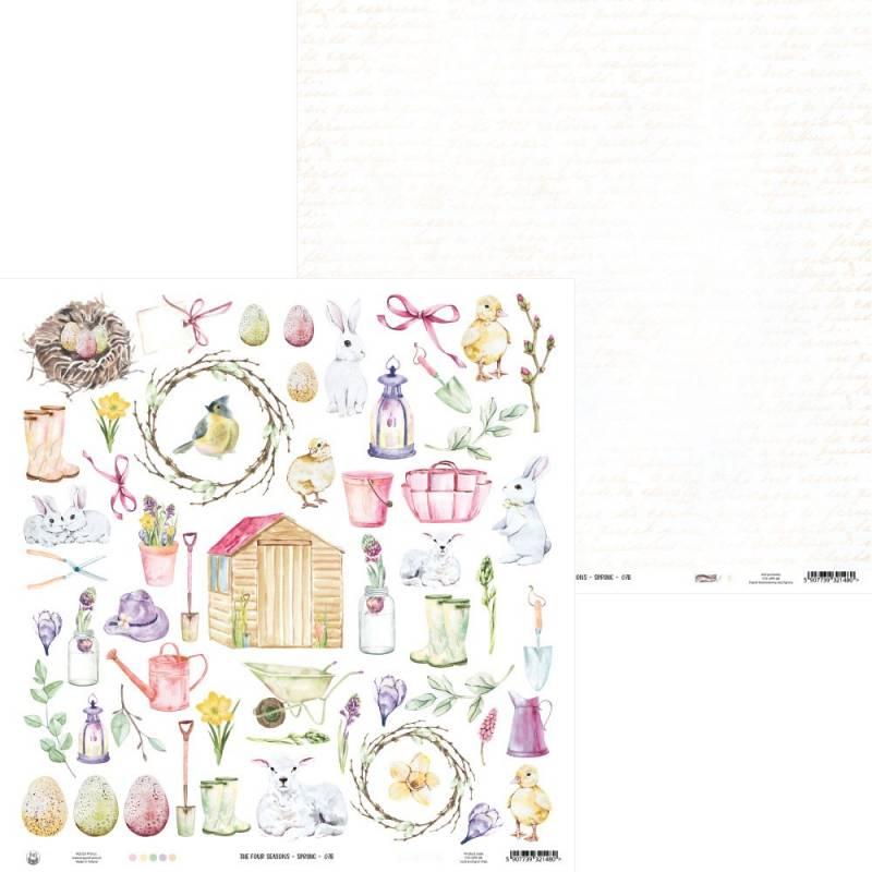 "Papier The Four Seasons - Spring 07b, 12x12"""