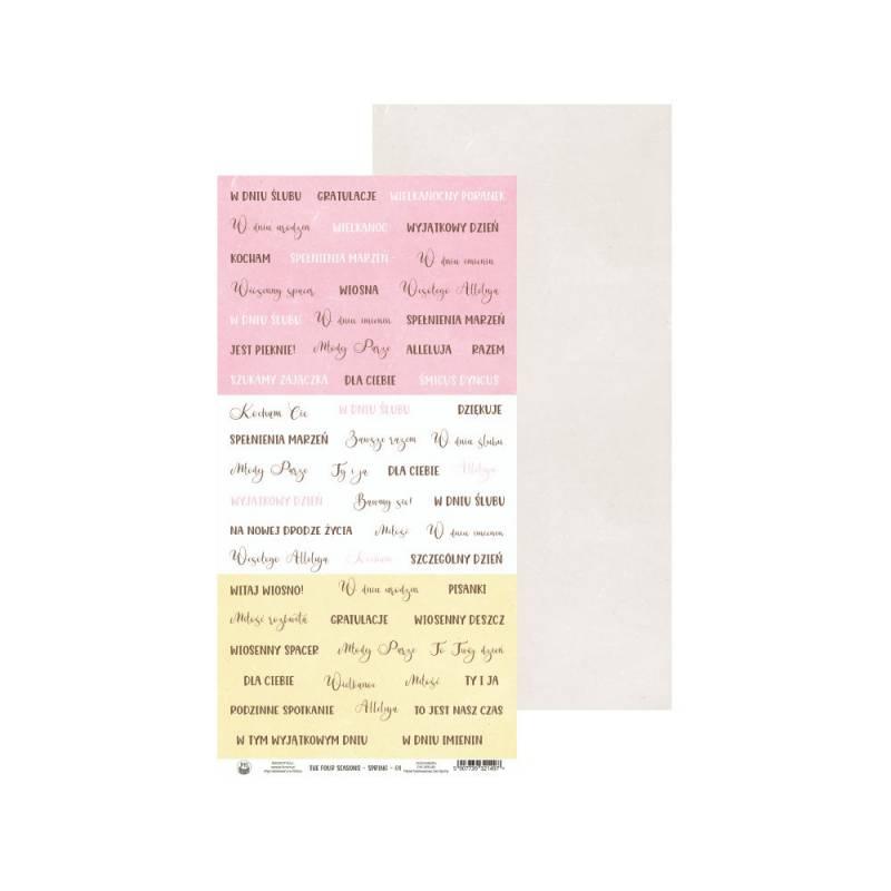 "Papier The Fours Seasons - Spring 08, 6x12"""
