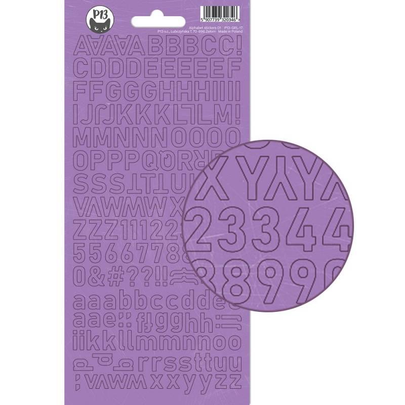 Alphabet sticker sheet Girl Gang 01, 10,5 x 23cm
