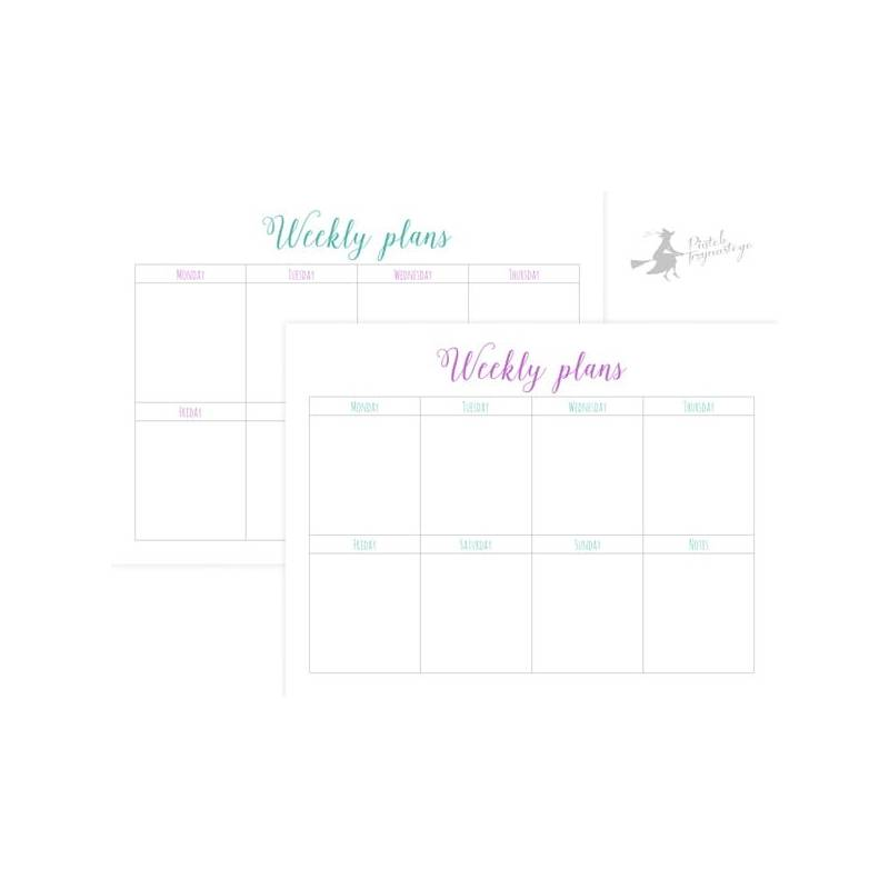 Set of planner sheets Weekly plans, 15x20 cm