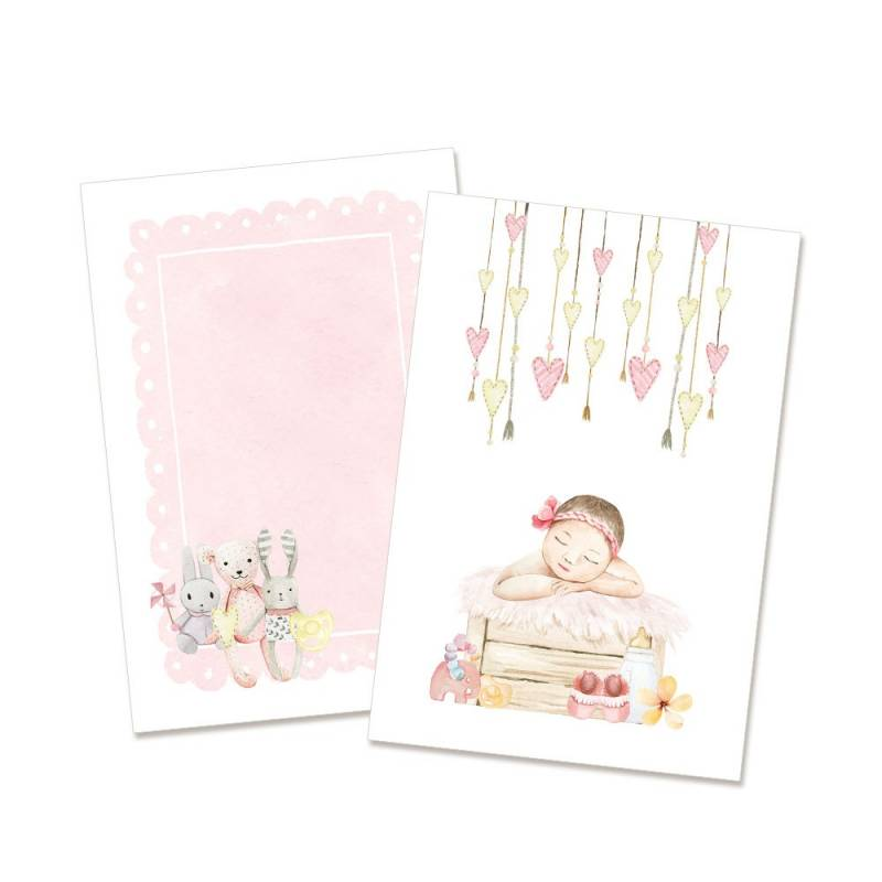 Set of cards Baby Joy Girl, 6x4""