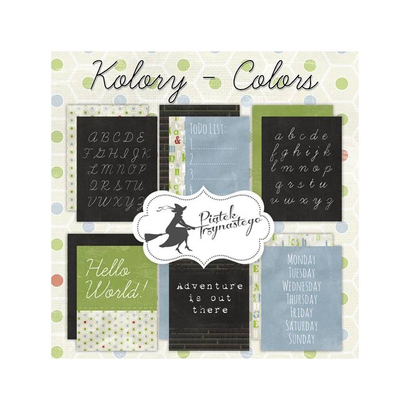 """Set of journaling cards Colours, 3x4"""""""