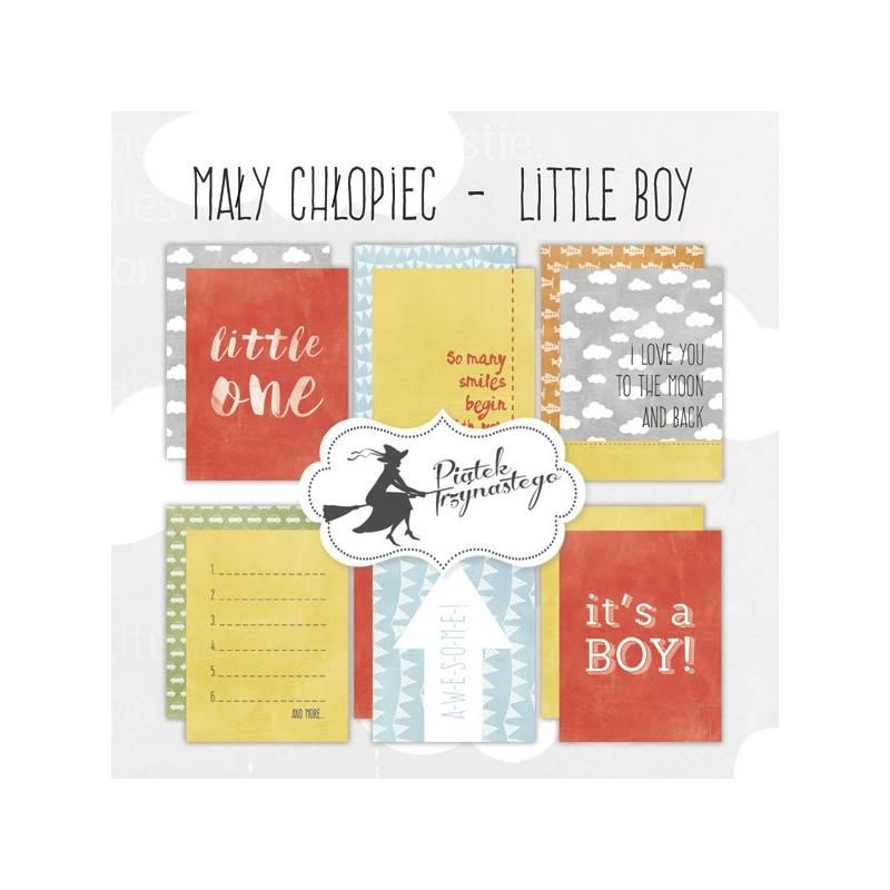 """Set of journaling cards Little Boy, 3x4"""""""