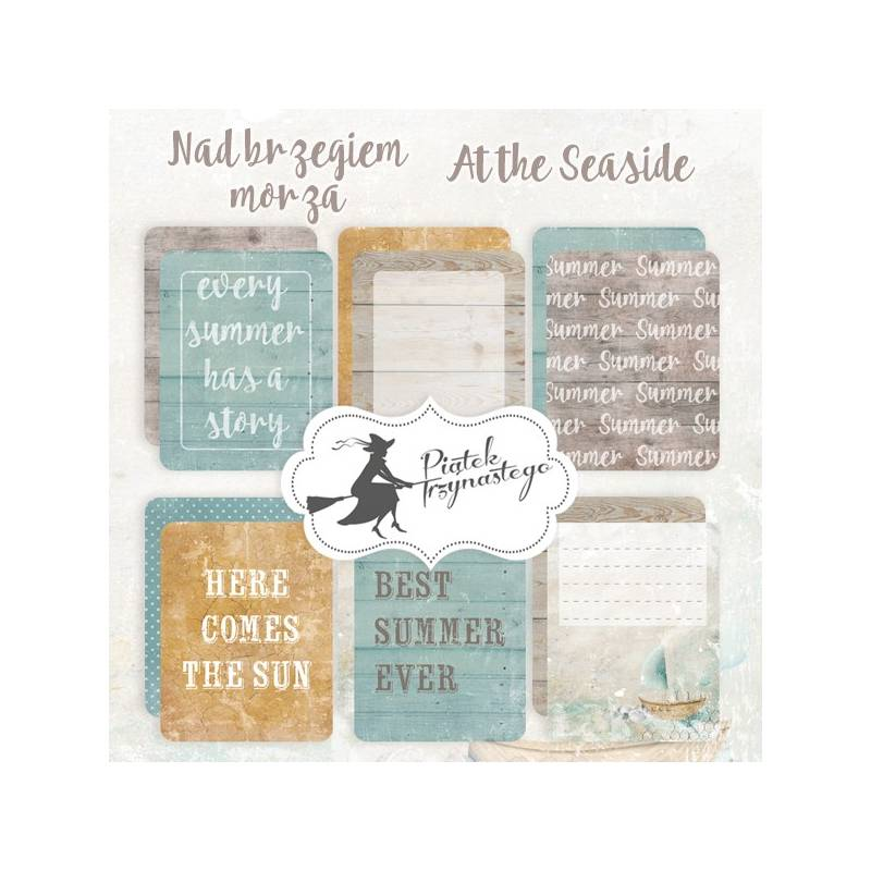 """Set of journaling cards At the Seaside, 3x4"""""""
