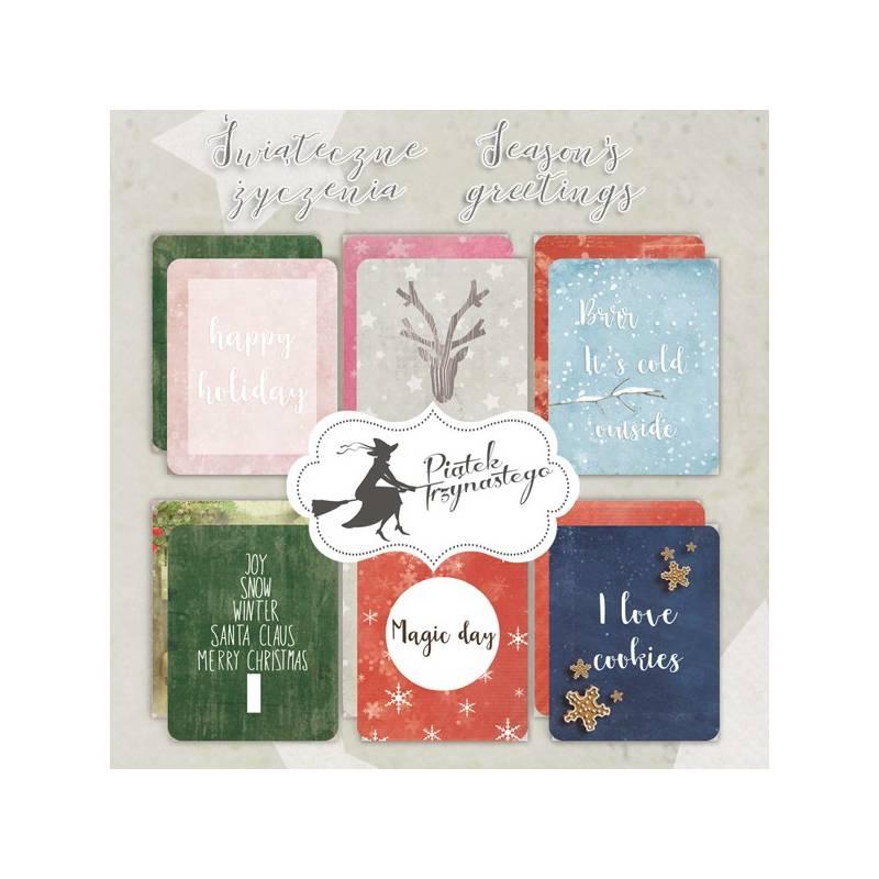 """Set of journaling cards Season's Greetings, 3x4"""""""