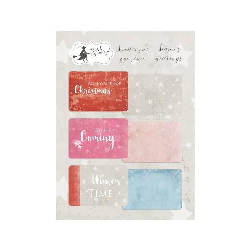 """Set of journaling cards Season's Greetings, 6x4"""""""