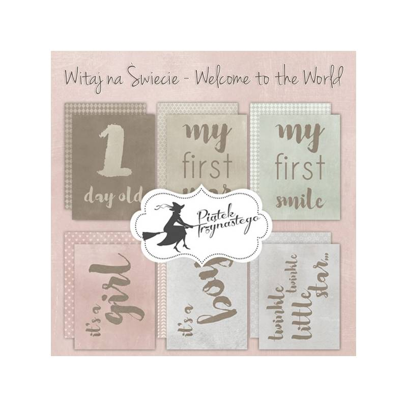 """Set of journaling cards Welcome to the World, 3x4"""""""