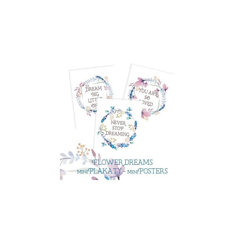 Mini-Poster set Flower Dreams, A5