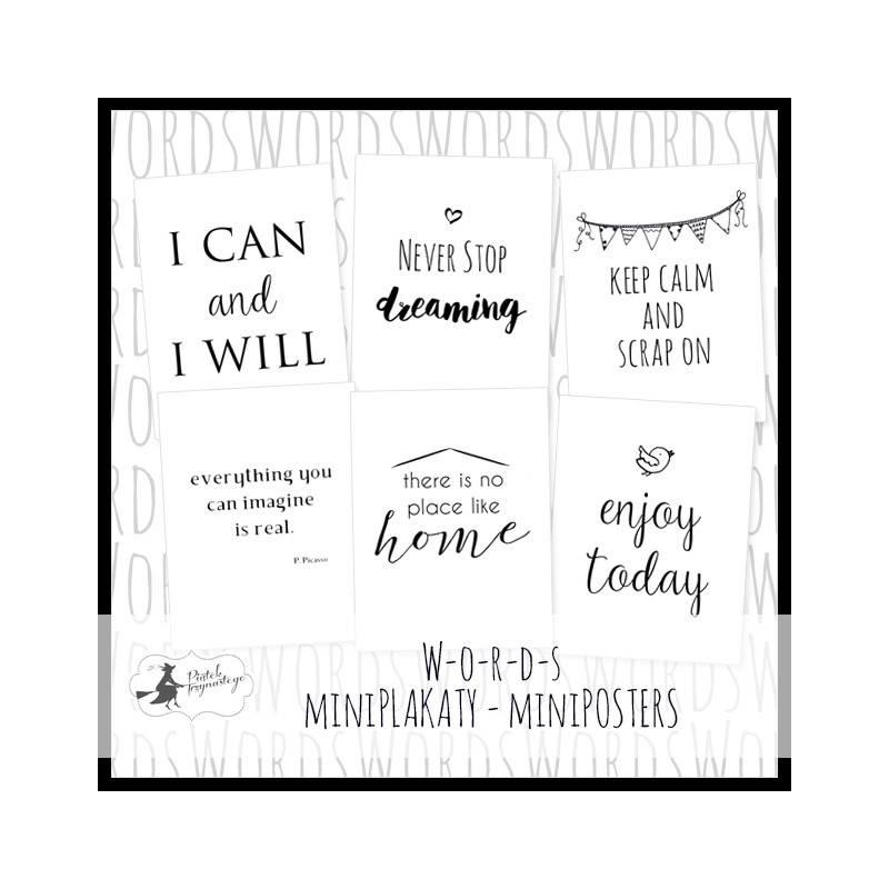 Mini-Poster set Words, A5