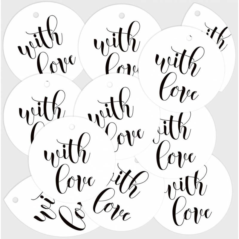 Decorative tags With Love 01