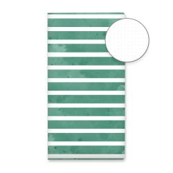 Dot Journal Green stripes