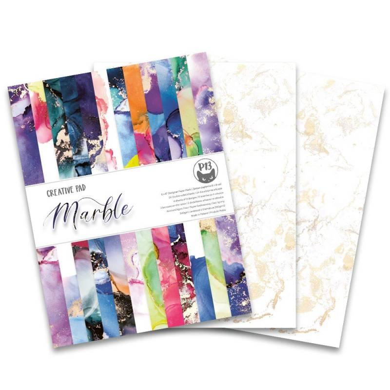 """Bloczek papierów Marble, 6x8"""""""