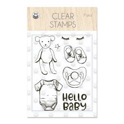 Clear stamp set Baby Joy 01, 7 pcs.