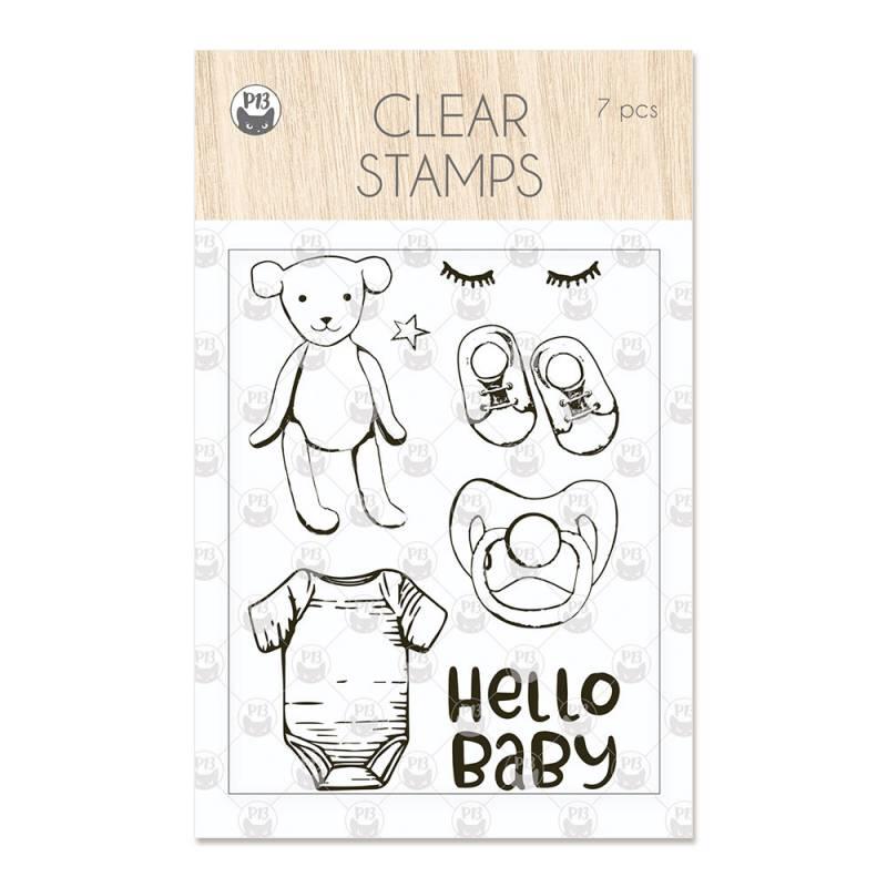 Clear stamp set Baby Joy 01, 7 pcs.