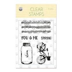 Clear stamp set The Four Seasons 01, 6 pcs.