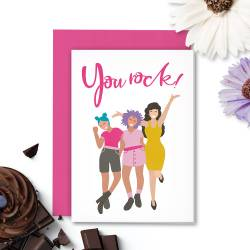 Greeting card with envelope Girl Gang 01, A6