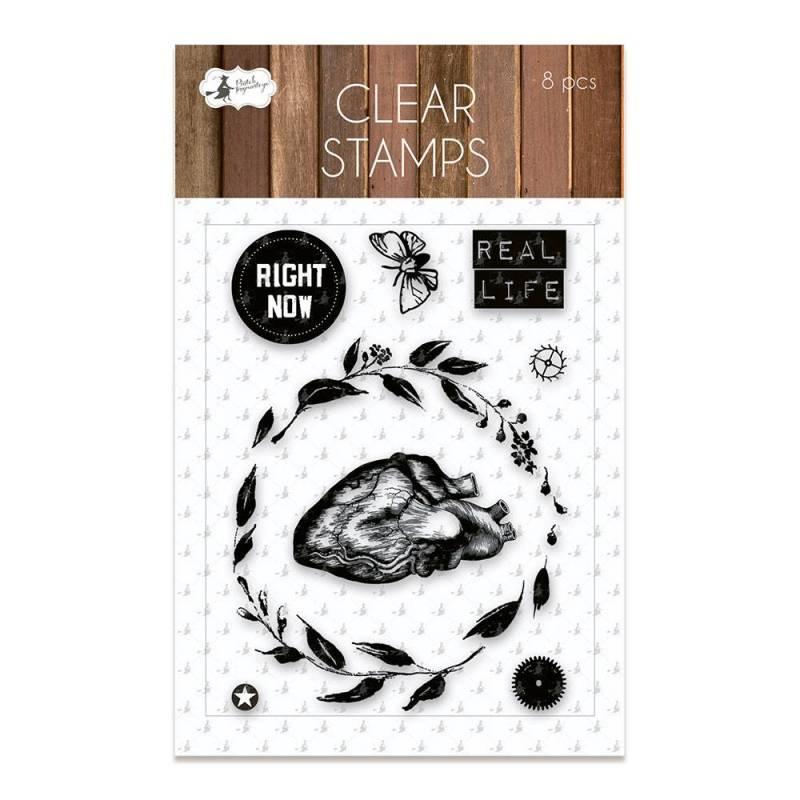 Clear stamp set Soulmate 01, 8 pcs.