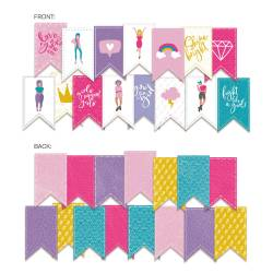 Banner/ die cut paper Girl Gang, 15 pcs.