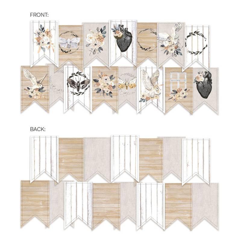 Banner/ die cut paper Soulmate, 15 pcs.