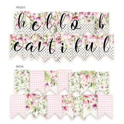 Banner/ die cut paper Hello Beatiful, 15 pcs.