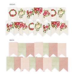 Banner/ die cut paper Rosy Cosy Christmas, 15 pcs.