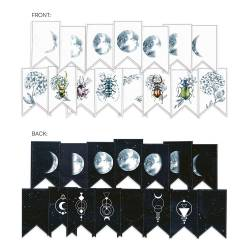 Banner/ die cut paper New moon, 15 pcs.