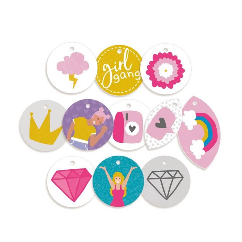 Decorative Tags Girl Gang 01