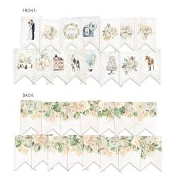 Banner/ die cut paper Truly Yours, 15 pcs.