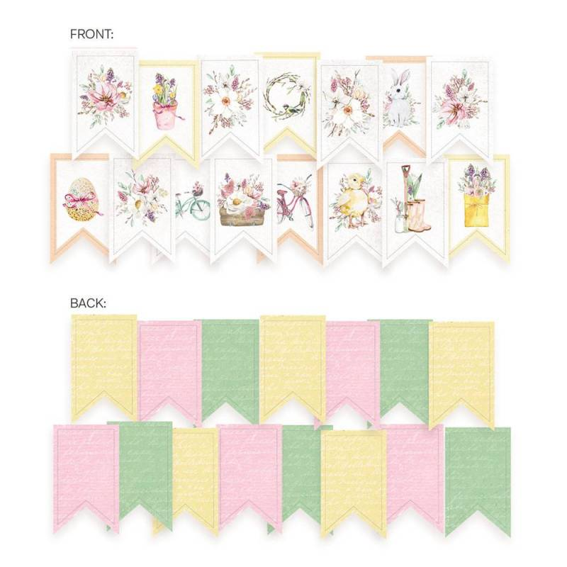 Banerek / die cut The Fours Seasons - Spring, 15szt.