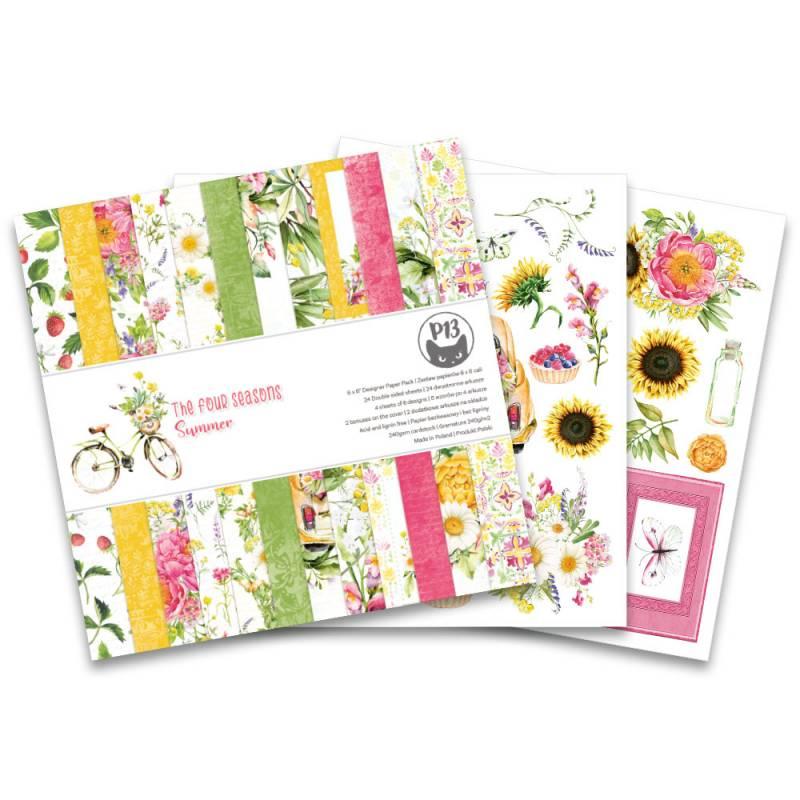 "Bloczek papierów The Four Seasons - Summer, 6x6"""