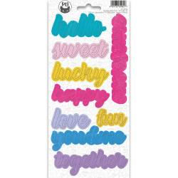 Phrase sticker sheet Girl Gang 01, 10,5 x 23cm