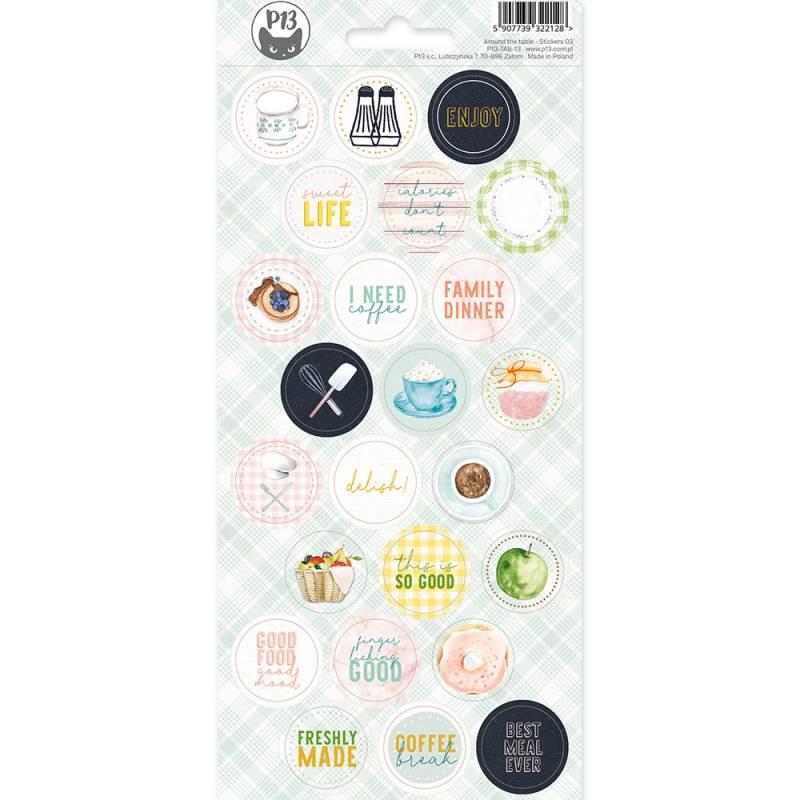 Sticker sheet Around the table 03, 10,5 x 23cm