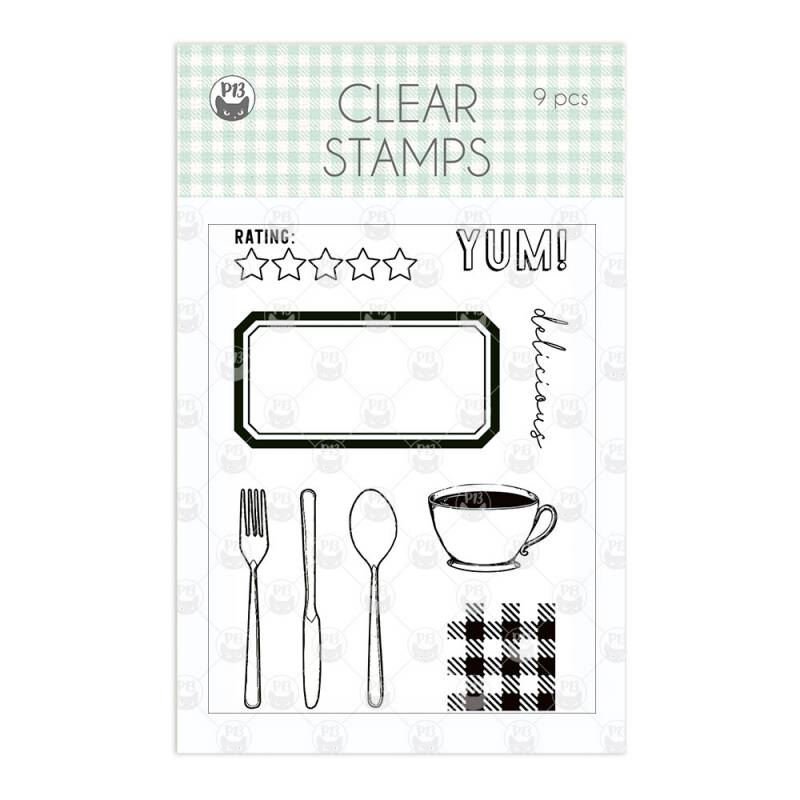 Clear stamp set Around the table, 9 pcs.