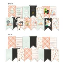 Banner / die cut paper Around the table, 15 pcs