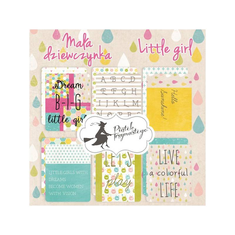 Set of journaling cards Little Girl, 3x4""