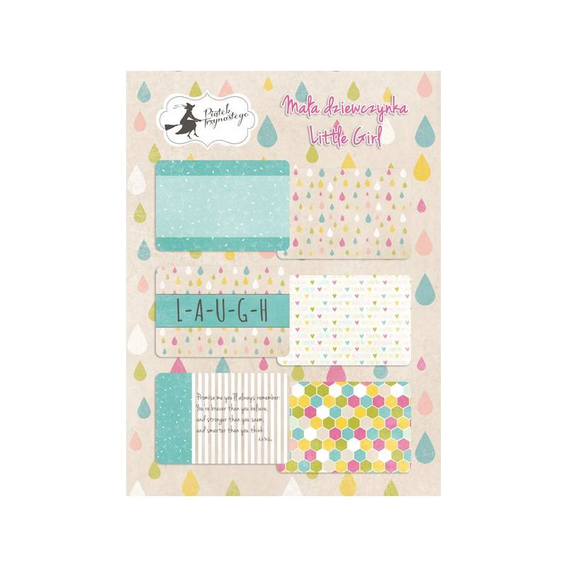 Set of journaling cards Little girl, 6x4""