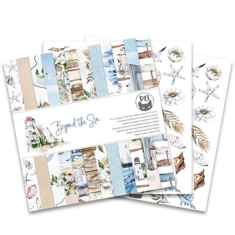 "Paper pad Beyond the Sea, 12x12"""