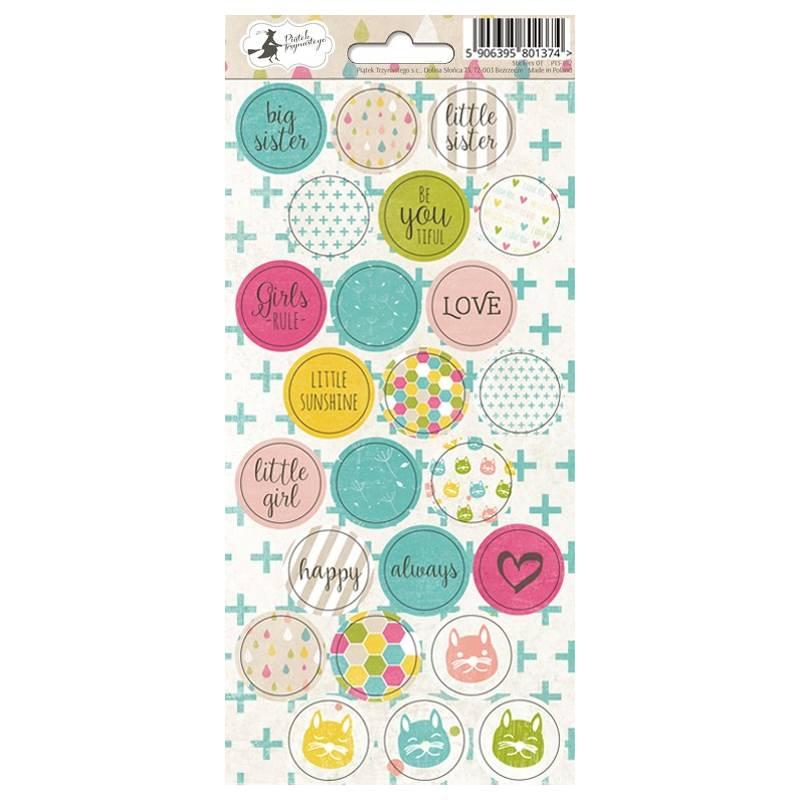 Sticker sheet Little Girl 03, 10,5 x 23cm