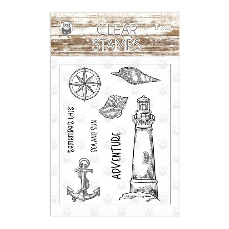 Clear stamp set Beyond the Sea 01, 8 pcs