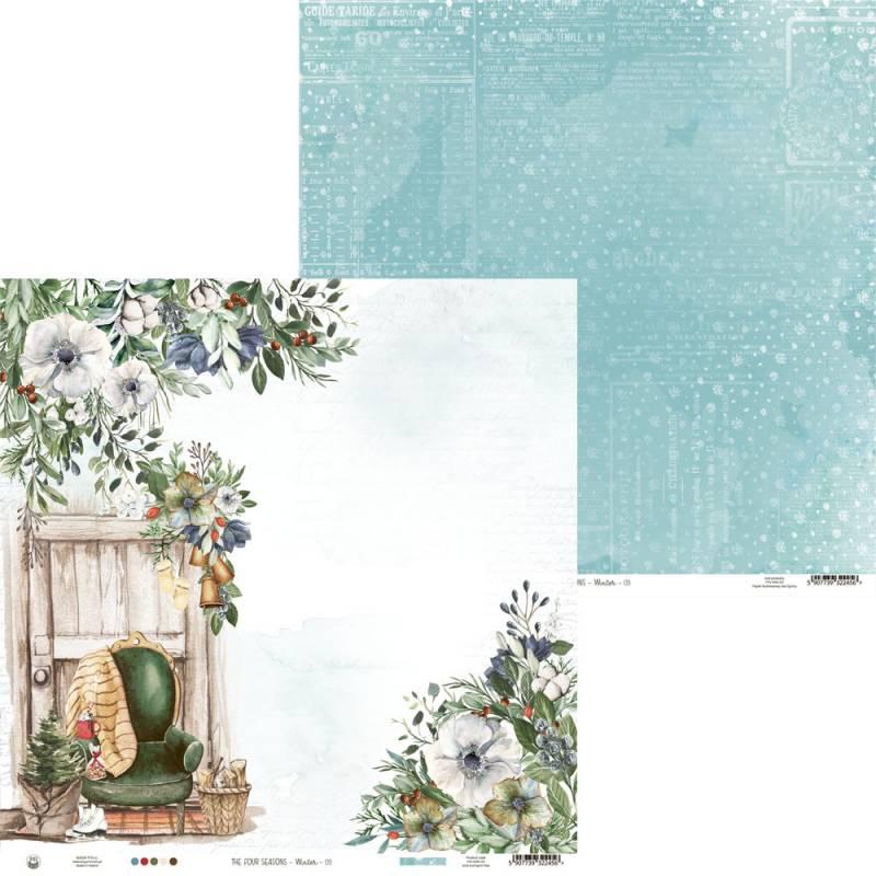 "Papier The Four Seasons - Winter 03, 12x12"""