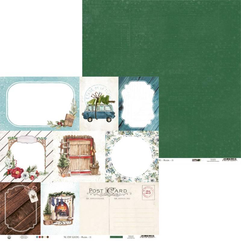 "Papier The Four Seasons - Winter 05, 12x12"""