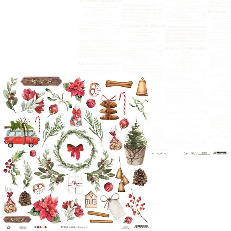 "Papier The Four Seasons - Winter 07, 12x12"""